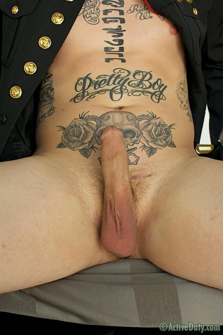 ActiveDuty-Marine-Quinn-Straight-Marine-Jerking-Off-Thick-Cock-Amateur-Gay-Porn-15 Real Tatted Straight Marine Jerking His Thick Cock