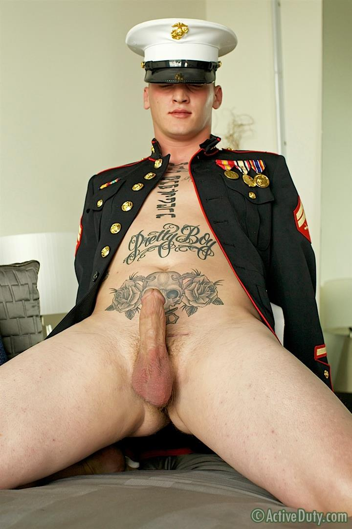 ActiveDuty-Marine-Quinn-Straight-Marine-Jerking-Off-Thick-Cock-Amateur-Gay-Porn-20 Real Tatted Straight Marine Jerking His Thick Cock