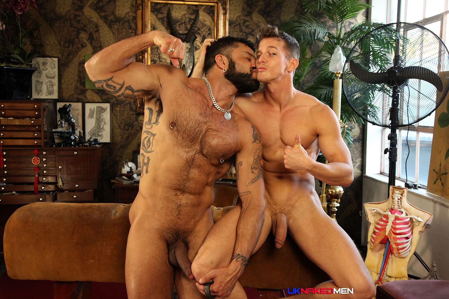 UK-Naked-Men-Rogan-Richards-Darius-Ferdynand-Huge-Uncut-Cocks-Fucking-Amateur-Gay-Porn-27 Hairy Muscle Arab Stud With A Big Uncut Cock Fucks A Slim Muscle Ass