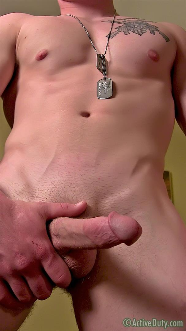 ActiveDuty-Orion-Ripped-Army-Guy-Jerking-His-Big-Cock-Amateur-Gay-Porn-13 Straight US Army Soldier Orion Jerking His Thick Cock