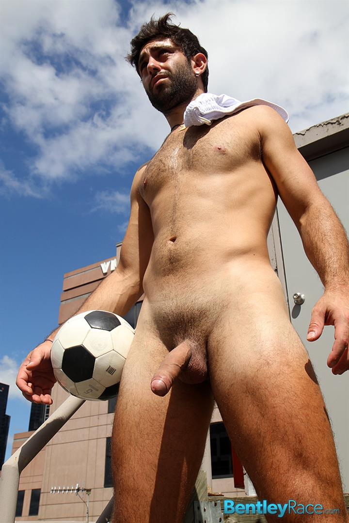 Soccer naked football players male
