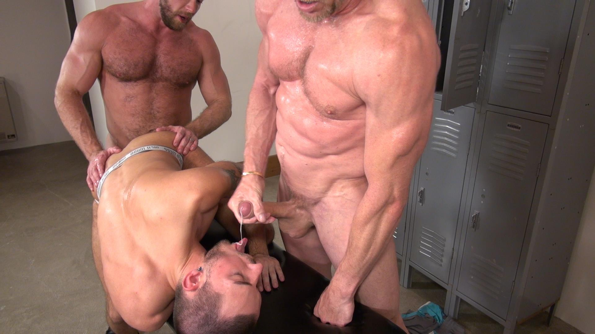 Raw-and-Rough-Gio-Ryder-and-Shay-Michaels-and-Parker-Jock-Gets-barebacked-by-two-muscle-daddy-Amateur-Gay-Porn-07 Jock Sniffing Slut Gio Ryder Takes Bareback Cocks Up The Ass