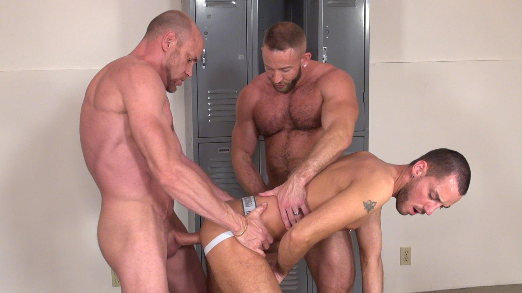 Raw-and-Rough-Gio-Ryder-and-Shay-Michaels-and-Parker-Jock-Gets-barebacked-by-two-muscle-daddy-Amateur-Gay-Porn-10 Jock Sniffing Slut Gio Ryder Takes Bareback Cocks Up The Ass