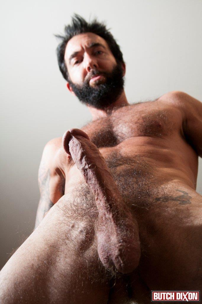 Butch-Dixon-Tom-Nero-Hairy-Daddy-Jerking-Off-A-Big-Fat-Mushroom-Head-Cock-Amateur-Gay-Porn-11 Hairy Stud Tom Nero Jerking His Thick Mushroom Head Cock
