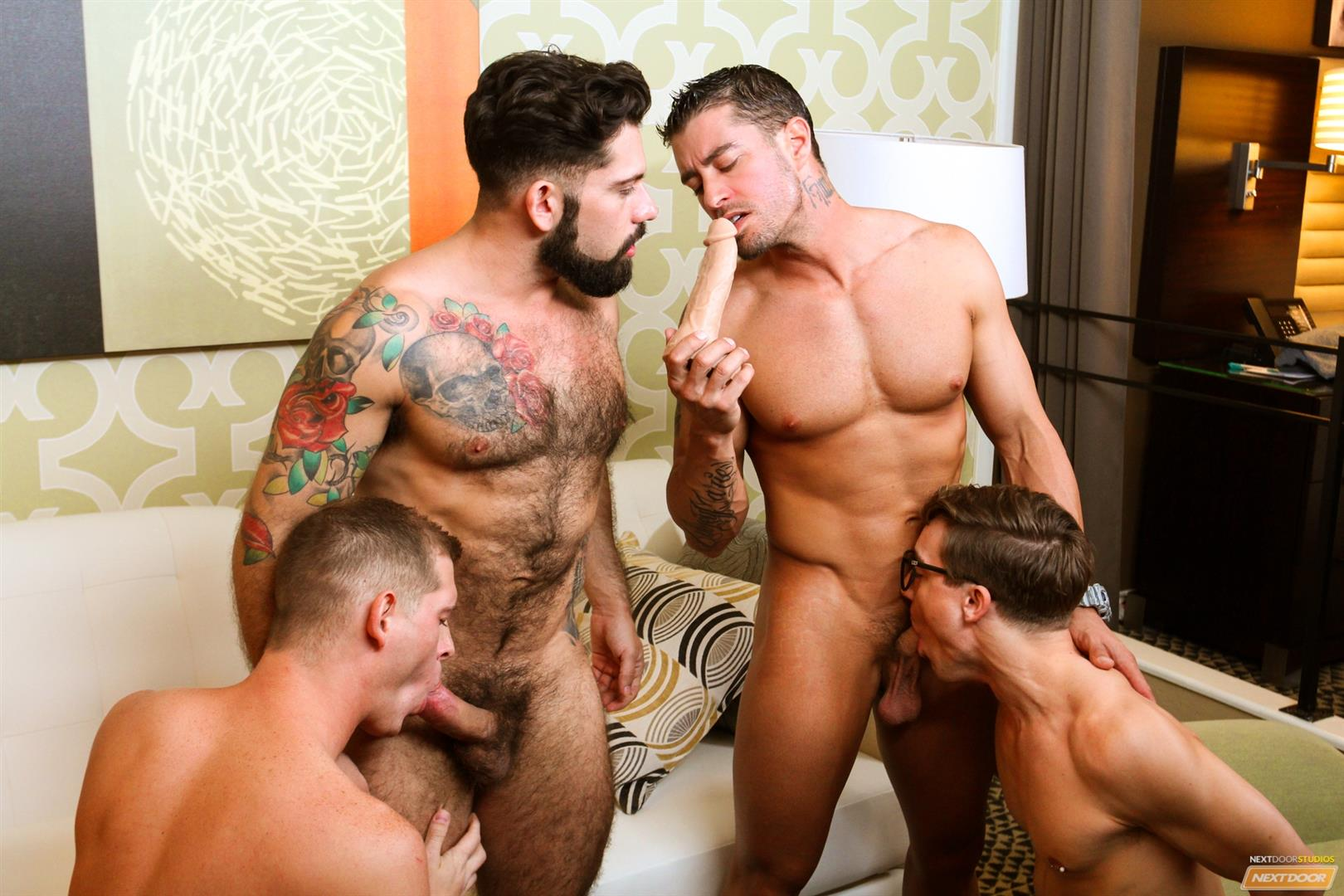 Cody Cummings and Tyler Morgan and Alessandro Del Torro Cock Sucking Lessons Amateur Gay Porn 14 Cody Cummings Gives The Boys Cock Sucking Lessons
