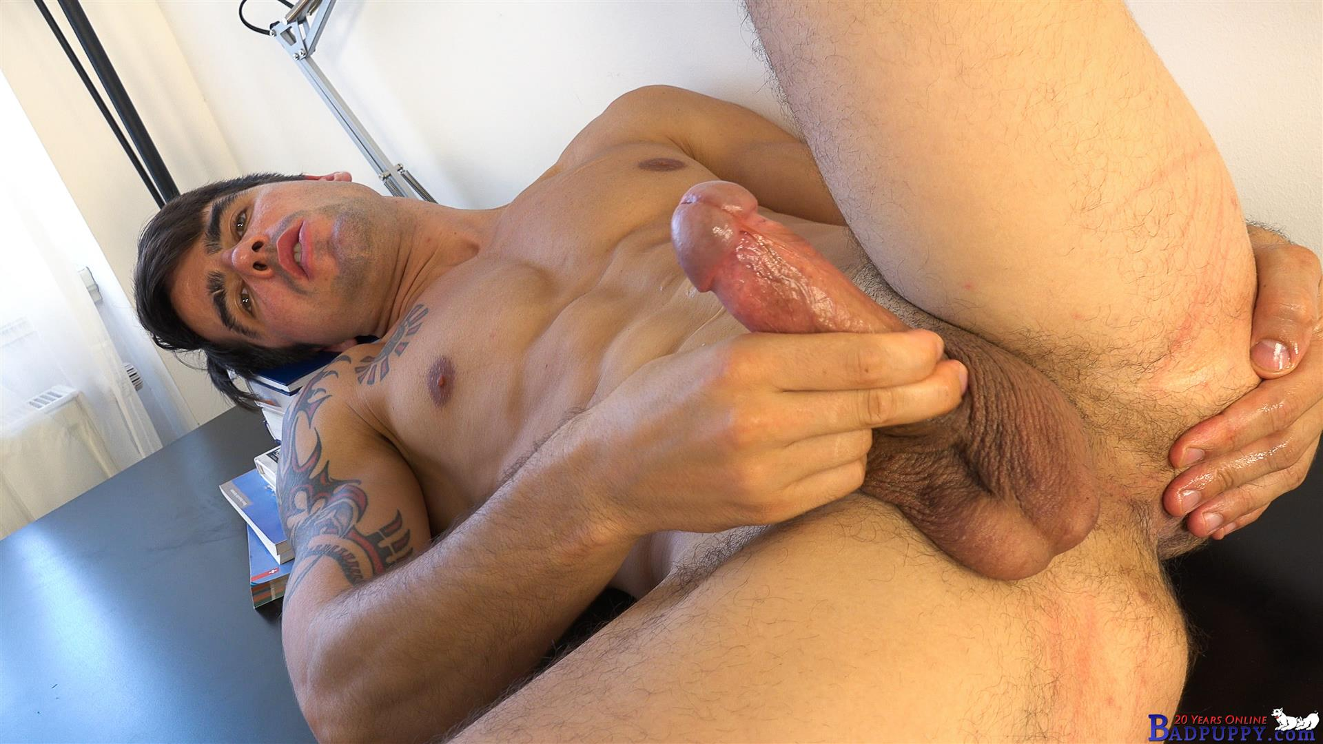 Badpuppy-Milan-Pis-Straight-Guy-With-Big-Uncut-Cock-Masturbating-Amateur-Gay-Porn-14 Straight Italian Banker Masturbating His Big Uncut Cock