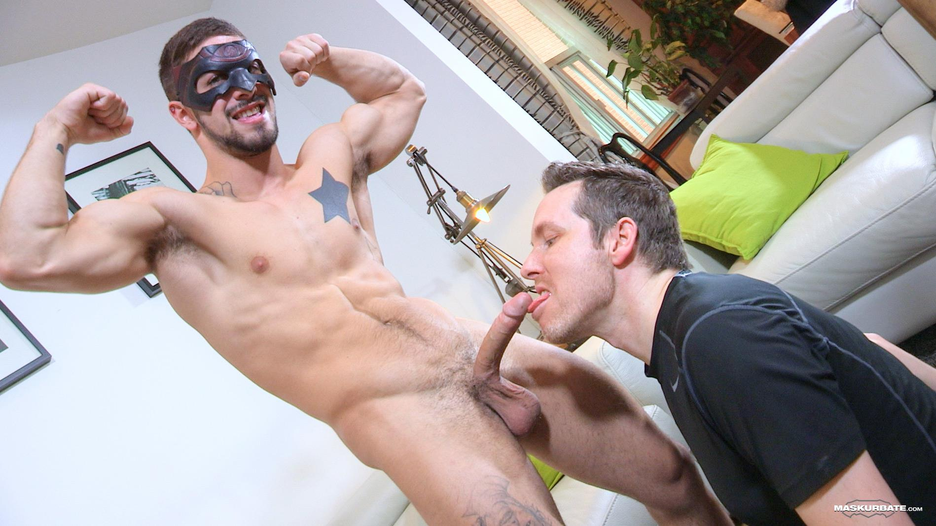 Maskurbate-Carl-Straight-Muscle-Jock-With-A-Big-Cock-Amateur-Gay-Porn-11 Straight Muscle Hunk Gets His First Blow Job From Another Guy