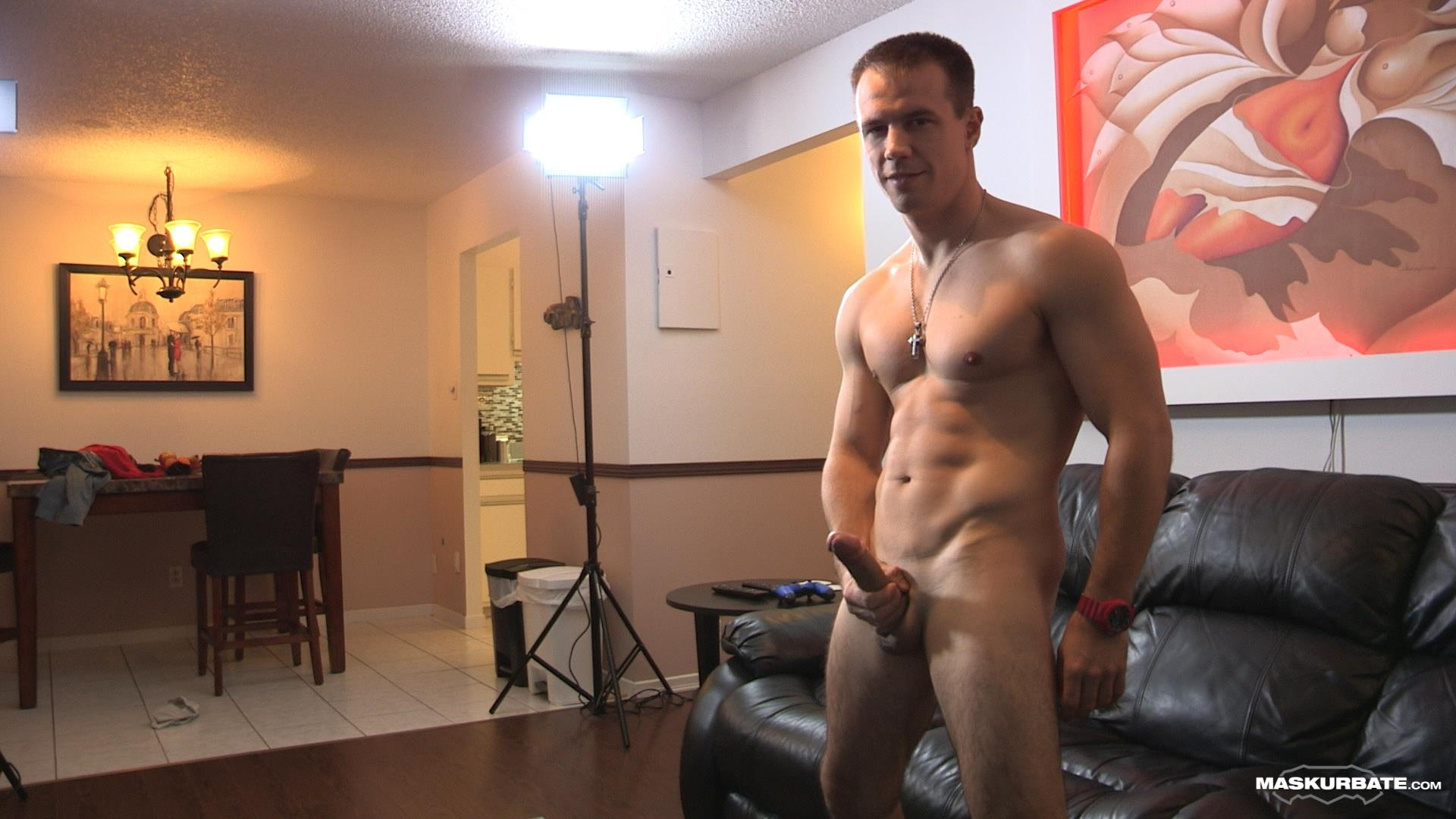 Maskurbate-Ricky-Straight-Guy-Masturbate-Big-Uncut-Cock-Amateur-Gay-Porn-08 Ricky Jerks His Huge Uncut Cock Until Jizz Shoots