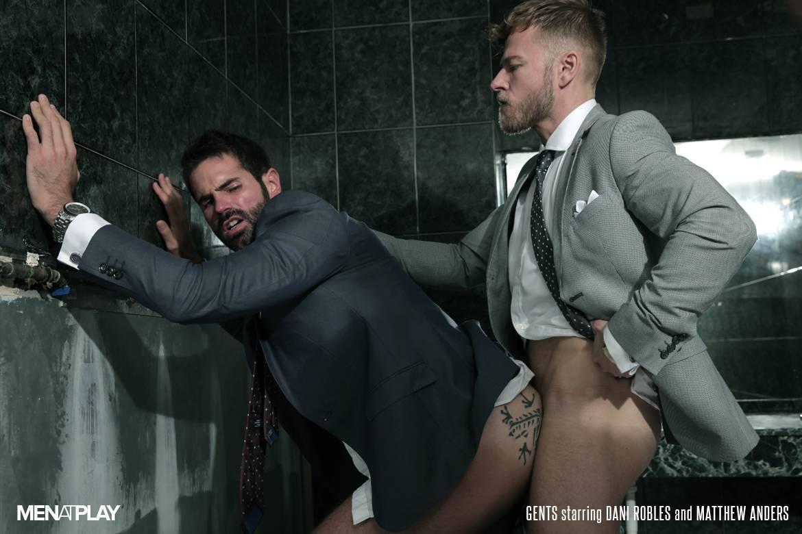 Men-At-Play-Matthew-Anders-and-Dani-Robles-Men-In-Suits-With-Big-Cocks-Fucking-Amateur-Gay-Porn-22 Looking For Cock and A Fuck In the Men's Restroom