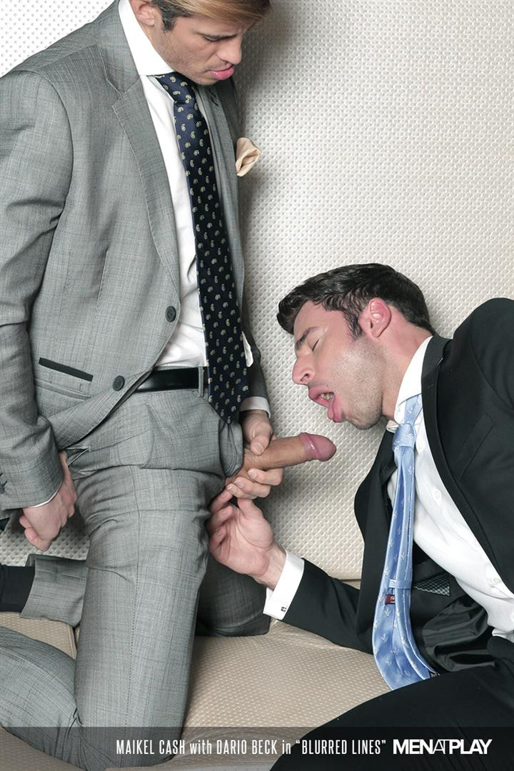 Men At Play Dario Beck and Maikel Cash Guys In Suits Fucking Amateur Gay Porn 15 Dario Beck Gets His Hairy Ass Fucked By Maikel Cashs Thick Uncut Dick
