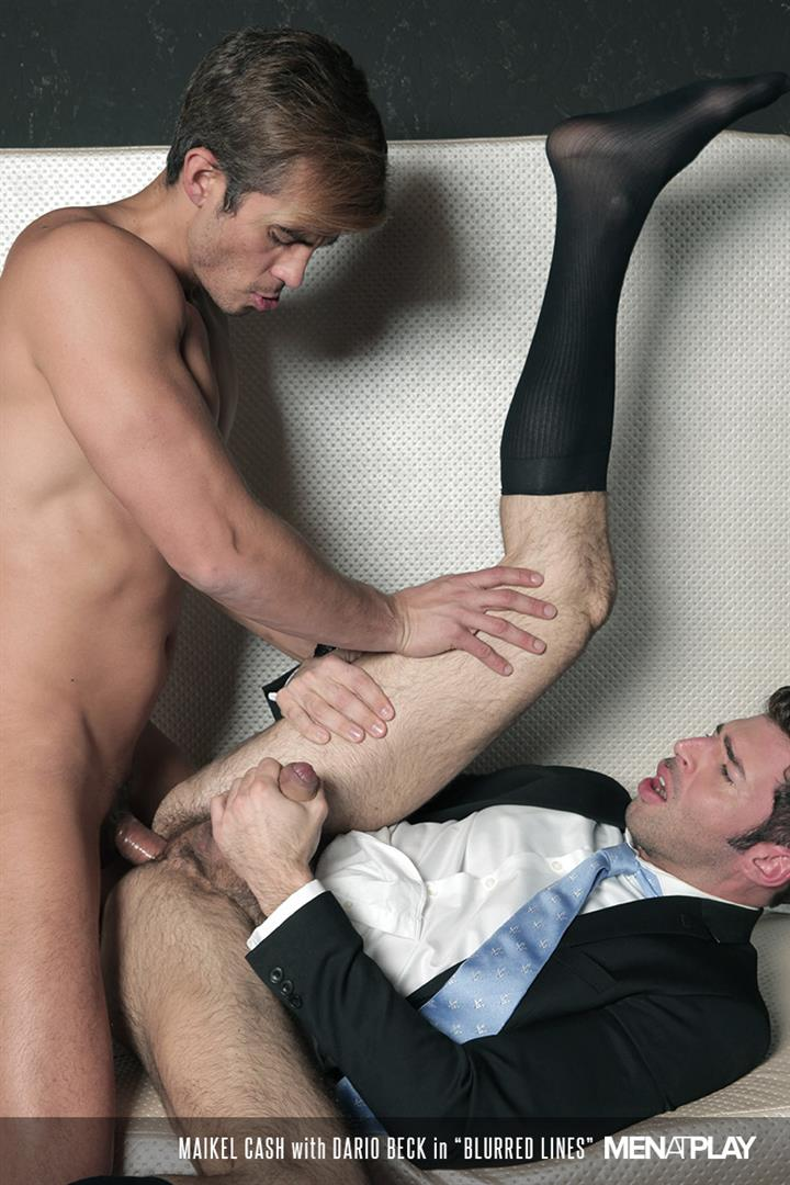 Men At Play Dario Beck and Maikel Cash Guys In Suits Fucking Amateur Gay Porn 20 Dario Beck Gets His Hairy Ass Fucked By Maikel Cashs Thick Uncut Dick