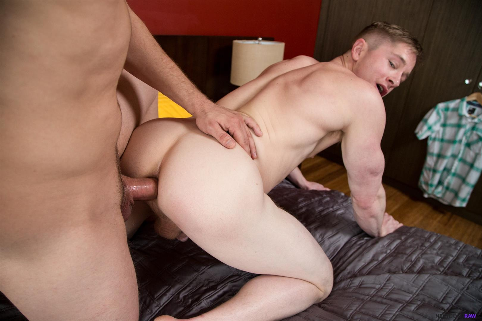 Next Door Raw Bridger Watts and Chris Blades muscle hunks bareback sex 12 Muscle Hunk Getting Fucked Bareback By His Brothers Best Friend