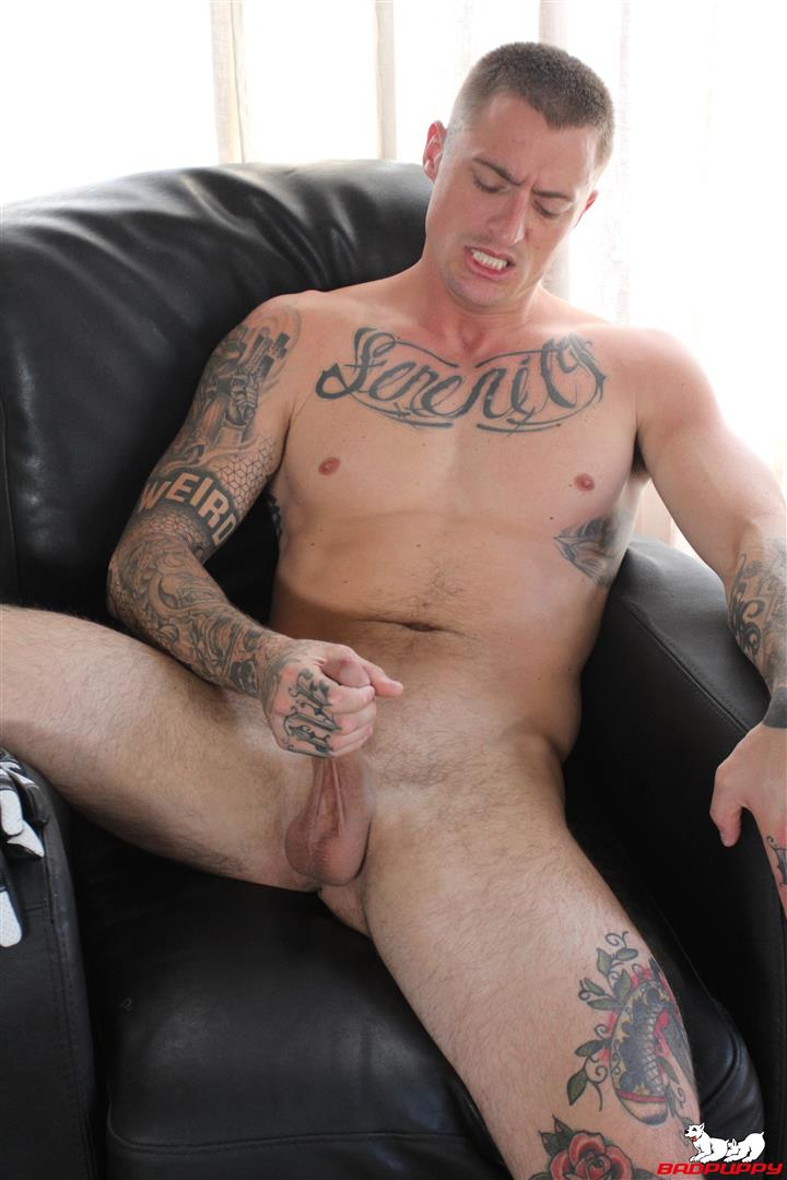 Badpuppy-Dane-Stewart-Naked-Tattoo-Stud-Jerking-Off-His-Big-Cock-Video-15 Big Dick Tattoo Artist Dane Stewart Jerks Off His Big Cut Cock