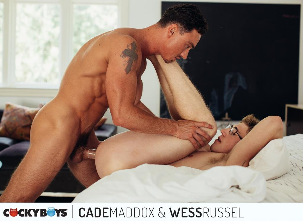 Cockyboys-Wess-Russel-and-Cade-Maddox-Thick-Cock-Muscle-Boys-Fucking-14 Cockyboys: Wess Russel Takes Cade Maddox's Thick Cock